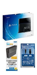 PlayStation 4 ジェット・ブラック 500GB (CUH-1100AB01) 【Amazon.co.jp限定特典】CYBER 本体保護フィルム&USB2.0コントローラー充電ケーブル4m