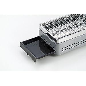 キャプテンスタッグ 炉端焼卓上カセットコンロ M-6303