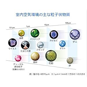 室内空気環境の主な粒子状物質