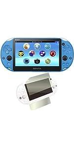 PlayStation Vita アクア・ブルー amazon.co.jp限定特典 液晶&背面保護フィルム付
