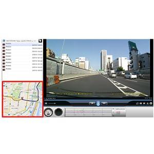 専用GOLIFE PLAYERでビューアソフト走行軌跡を表示可能
