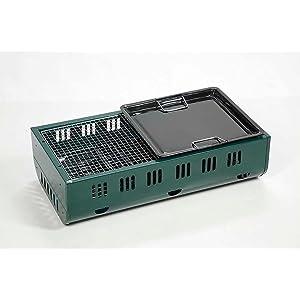 キャプテンスタッグ NEWエフェクト ツーウェイ バーベキューコンロ 600 ホーロー鉄板 [5~6人用] UG-8