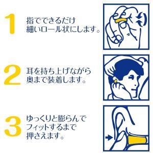 耳せんの効果を正しく得るためには、 正しい方法で装着することが重要です。