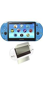 PlayStation Vita Wi-Fiモデル アクア・ブルー(PCH-2000ZA23) 【Amazon.co.jp限定特典】CYBER液晶&背面タッチパッド 保護フィルム (指紋防止タイプ)付