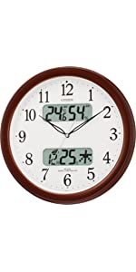 セイコー 掛け 時計 4FYA インテリア おしゃれ 温度 湿度 クロック 夏 インフル カビ 静か 人気 1位 安 セール サービス kake tokei シチズン 事務所 オフィス
