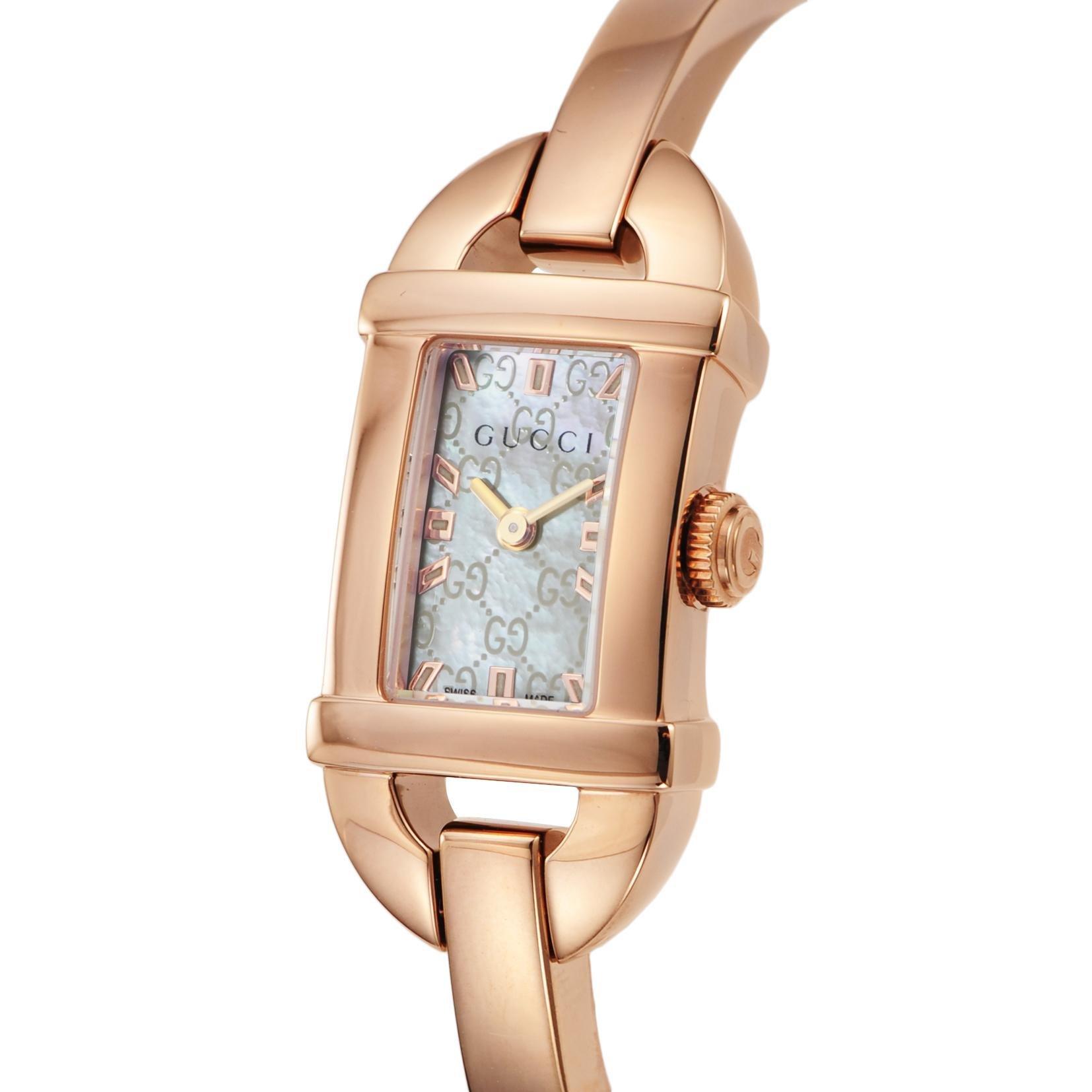 15a268bb8025 Amazon | [グッチ]GUCCI 腕時計 6800 ホワイトパール文字盤 ステンレス ...