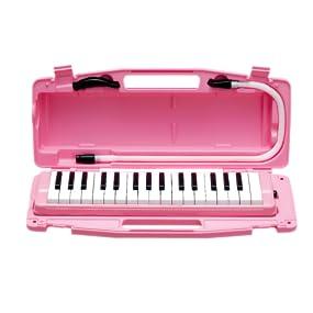 鍵盤 ハーモニカ 本体 ピアニー ピアニカ パイプ 幼稚園 保育園 小学校 学校 教育 リード 日本 国産 323AH もも ピンク ハード ケース