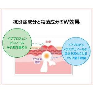 ニキビを治療する有効成分のW効果