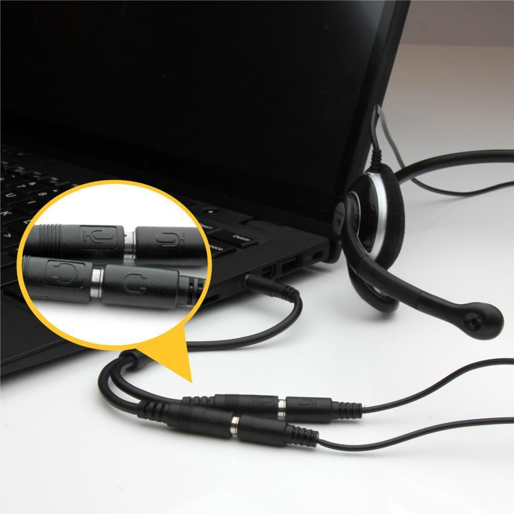 Amazon スターテック Com ヘッドフォン マイク用ジャック付ヘッドセット対応アダプタ 4極3 5mm