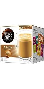 コーヒーカプセル ネスカフェ ドルチェグスト専用カプセル カフェオレ 16杯分