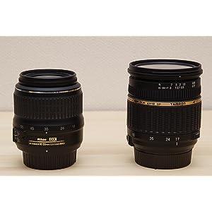 Nikon標準レンズとTAMRON F2.8 17-50レンズ