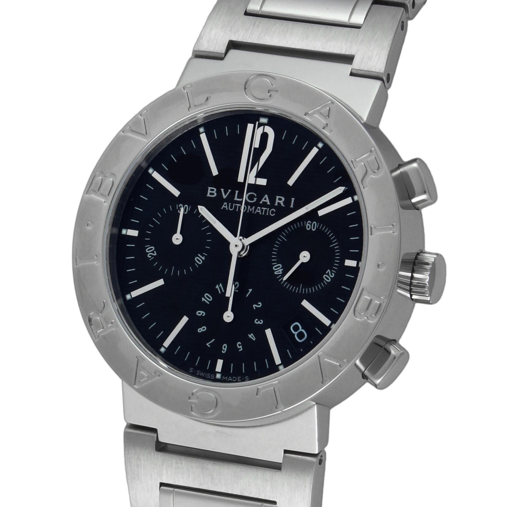 1377b0a4932d Amazon | [ブルガリ]BVLGARI 腕時計 BB38BSSDCH ブルガリブルガリ クロノ ...