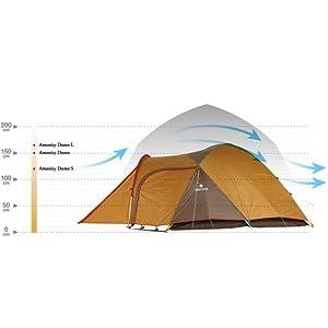 アメニティドーム 快適性と耐久性を追求したスノーピークのテント高