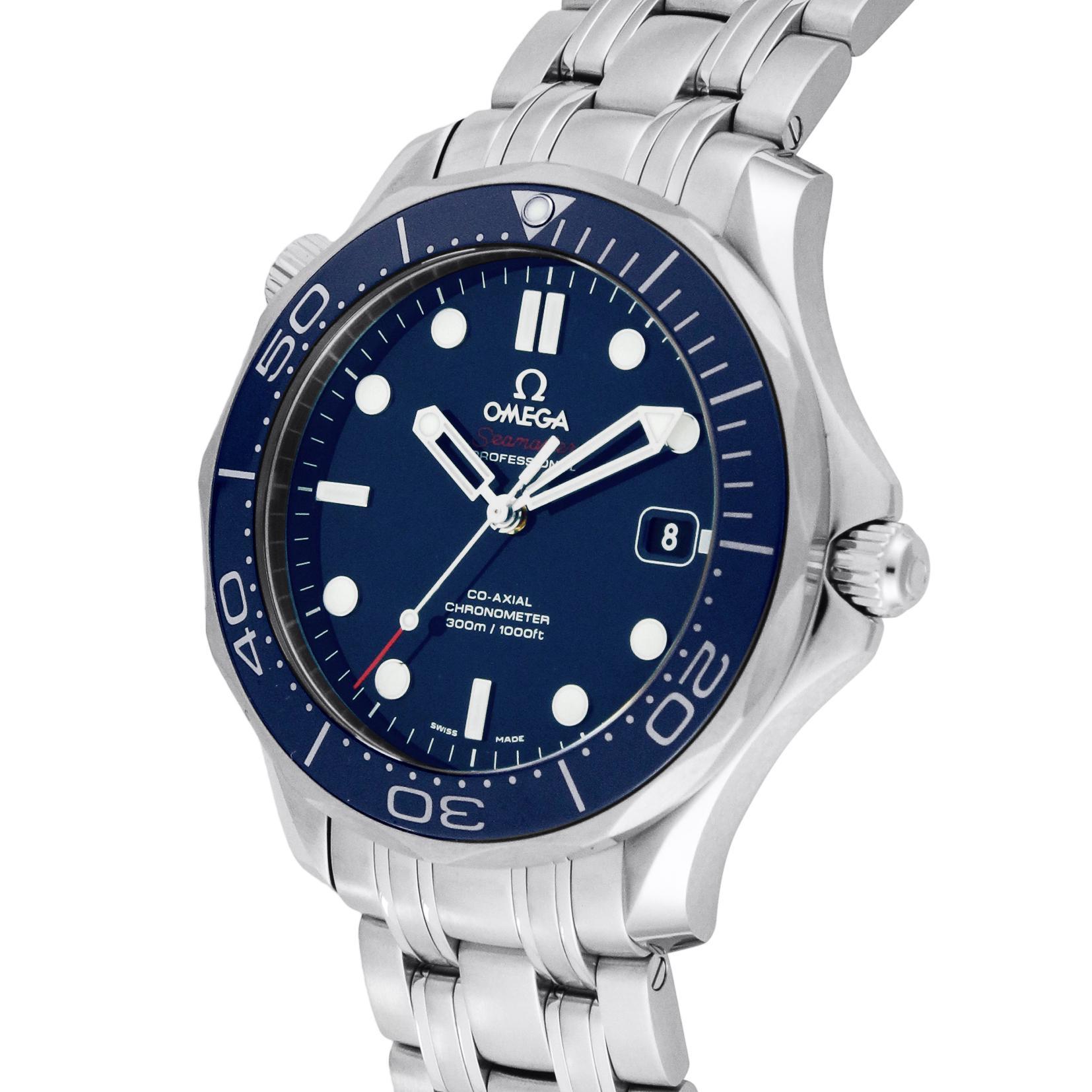 new style f119e d4972 [オメガ]OMEGA 腕時計 シーマスター ブルー文字盤 コーアクシャル自動巻 300M防水 クロノメーター 212.30.41.20.03.001  メンズ 【並行輸入品】