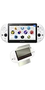 PlayStation Vita Wi-Fiモデル グレイシャー・ホワイト(PCH-2000ZA22) 【Amazon.co.jp限定特典】CYBER液晶&背面タッチパッド 保護フィルム (指紋防止タ