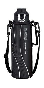 サーモス 真空断熱スポーツボトル 1.0L ブラック FFF-1000F BK