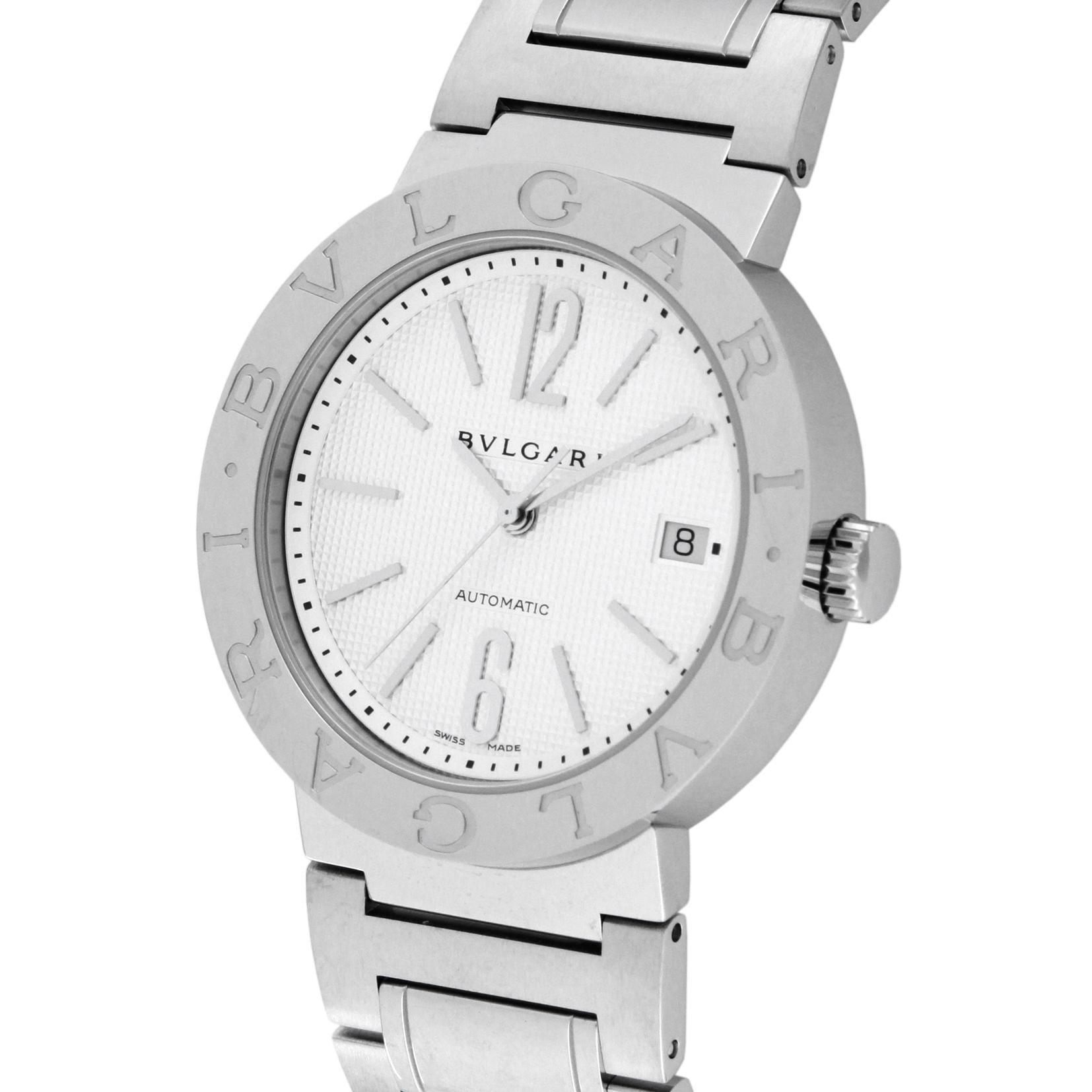 84ca3b3226d1 Amazon | [ブルガリ]BVLGARI 腕時計 BB38WSSD AUTO ブルガリ ホワイト ...