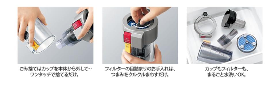 SHARP コードレスサイクロン掃除機 EC-SX210-A