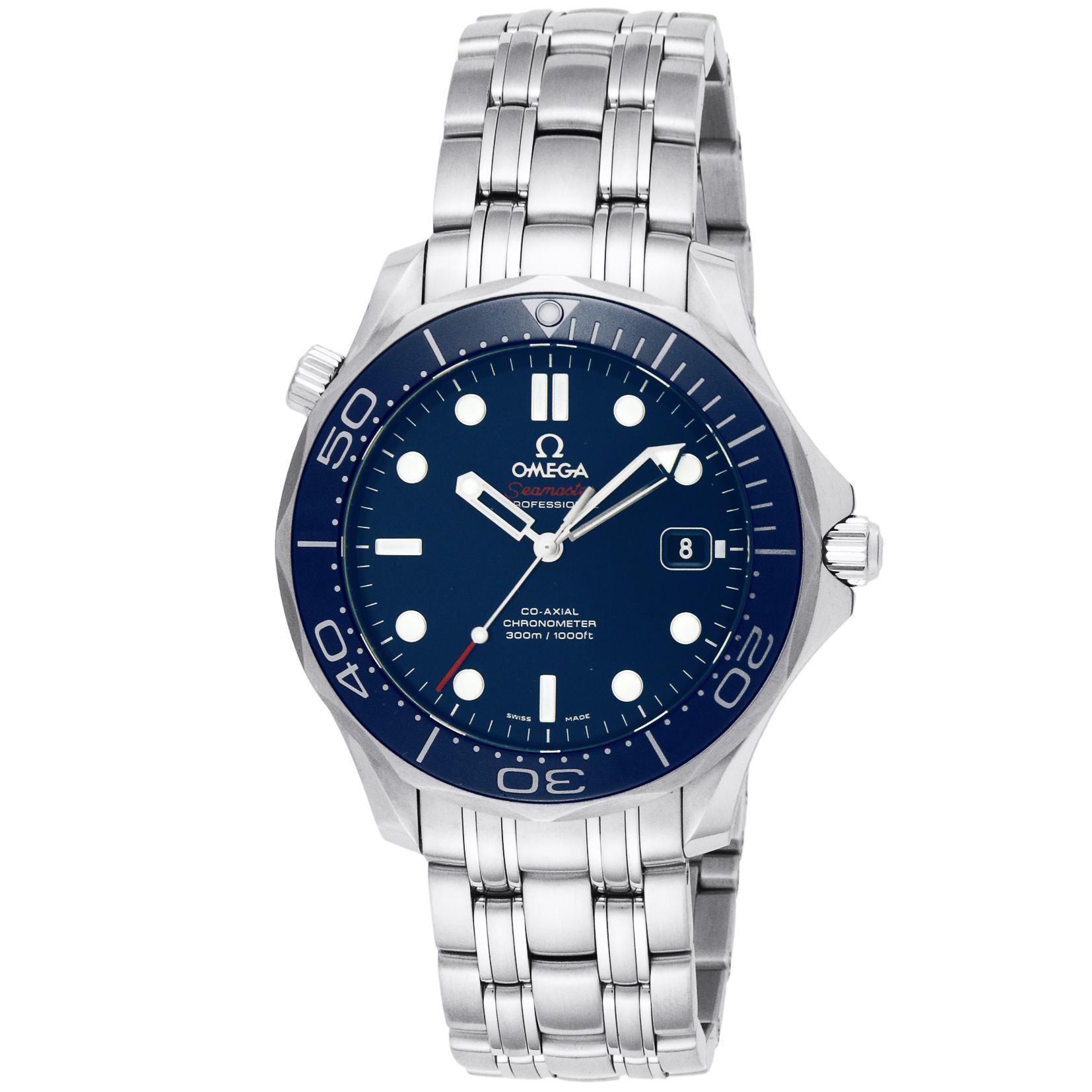 new style b63b6 56c45 [オメガ]OMEGA 腕時計 シーマスター ブルー文字盤 コーアクシャル自動巻 300M防水 クロノメーター 212.30.41.20.03.001  メンズ 【並行輸入品】