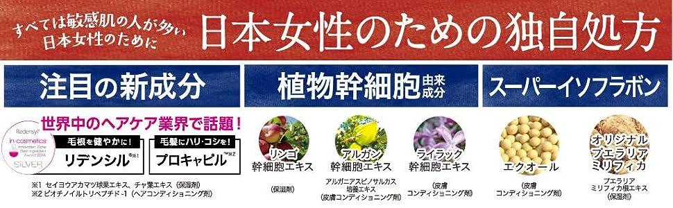 敏感肌の人が多い日本女性のための独自処方、プロキャピル、リデンシル