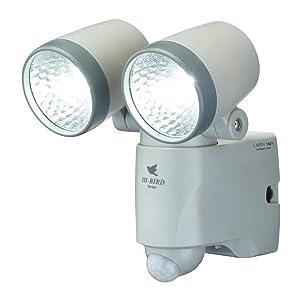 センサー ライト 乾電池 LED 玄関 防犯 コードレス 省エネ