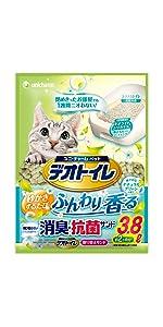 デオトイレ 1週間消臭・抗菌 ふんわり香る消臭・抗菌サンド ナチュラルグリーンの香り