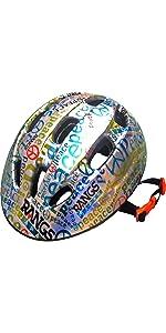 ラングス ジュニアスポーツヘルメット■ピース / シルバー×ブルー