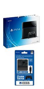 PlayStation 4 (PS4) PlayStation Camera同梱版 ジェット・ブラック (CUH-1100AA01) 【Amazon.co.jp限定特典】ACアダプタ for DUA