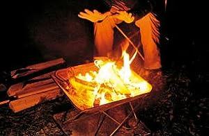 焚火台 暖をとる