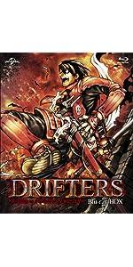 【Amazon.co.jp限定】DRIFTERS Blu-ray BOX (特装限定生産)(特典:「特製ドラマCD」&「描き下ろしキャラファイン[豊久×信長]」&漂流物特製イラストカードセット付き)