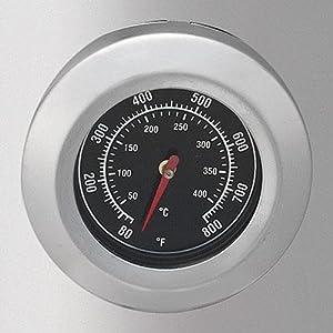 熱燻製に便利な温度計付き