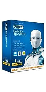 ESET ファミリー セキュリティ(5台1年)