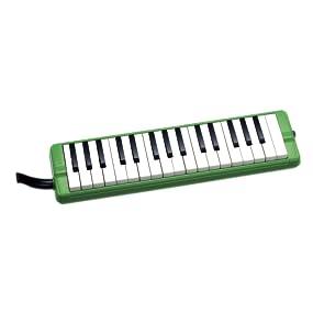 鍵盤 ハーモニカ 本体 ピアニー ピアニカ パイプ 幼稚園 保育園 小学校 学校 教育 リード 日本 国産 323A 緑 グリーン ソフト ケース