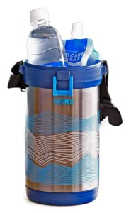 サーモス 真空断熱 アイスコンテナー(氷を持ち運ぶための魔法びん) ネイビー FHK-2200NVY