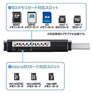 SDカード・microSDカード対応