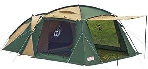 3面がオープン可能なテント