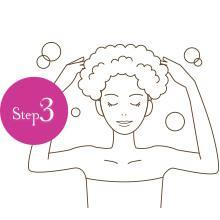 【Step3】髪を洗う=頭皮を洗う。泡で優しくいたわりながら。