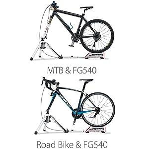 ミノウラ(MINOURA) ローラー台 ハイブリッドローラー FG540 前輪/固定式 後輪/自重式 ロードバイク、マウンテンバイク、シクロクロス対応