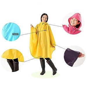 OUTDOOR PRODUCTS(アウトドアプロダクツ) ポンチョ 自転車用雨具 rain 雨 雨具 レインポンチョ レインコート カッパ 合羽 雨合羽 通勤 通学 ユニセックス 男女兼用 自転車