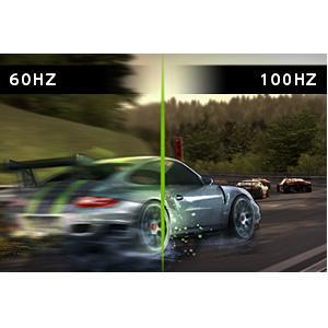 ライバルに差をつける100Hzの超高速リフレッシュレート