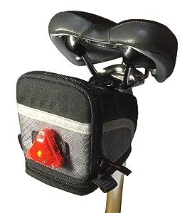 サドル バッグ 自転車 ライト リアライト