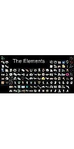 世界一美しい周期表,周期表,元素,原子,分子,グレイ,イグノーベル,科学,したじき,学習,理科,プレゼント,教材,記念品,インテリア,おしゃれ,文具,かっこいい,マット