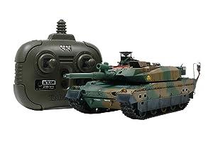 タミヤ 1/35 RC タンクバトルシリーズ No.13 陸上自衛隊 10式戦車 (2.4GHz プロポ付き) 48213