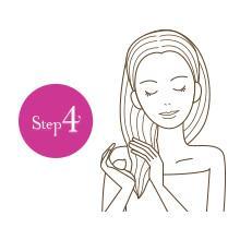 【Step4】シャンプー⇒コンディショナー⇒トリートメントの使い方が効果的。