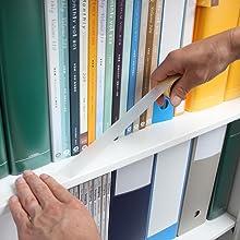 本棚 書棚 地震対策 耐震 落下抑制テープ スチール 落下 オフィス