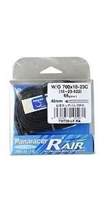 RacingTube R'AIR [W/O 700x18~23C] 仏式ロングバルブ(48mm) TW720-LF-RA