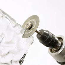 ダイヤモンドカッターを使用してガラスの切断