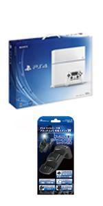 PlayStation 4 グレイシャー・ホワイト 500GB (CUH1100AB02) 【Amazon.co.jp限定特典】アンサーPS4コントローラ用 アタッチメント充電スタンドW