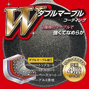 Wマーブルコーティング ダブルマーブルコーティング 4層 特殊フッ素樹脂加工