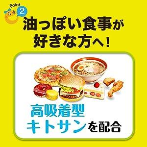 高吸着型キトサンが 楽しい食事をサポート!